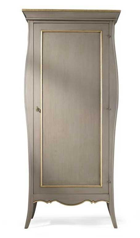 Schrank 1 Tür breite 1 m grau