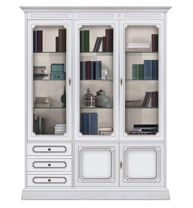 Bibliothèque vitrine murale de style