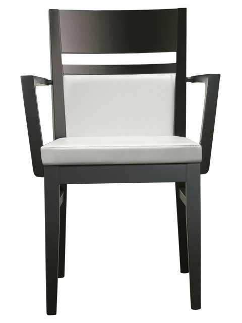 Armlehnstuhl weiß und schwarz Design