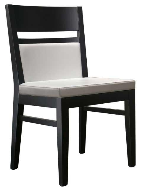 Stuhl weiß und schwarz Design