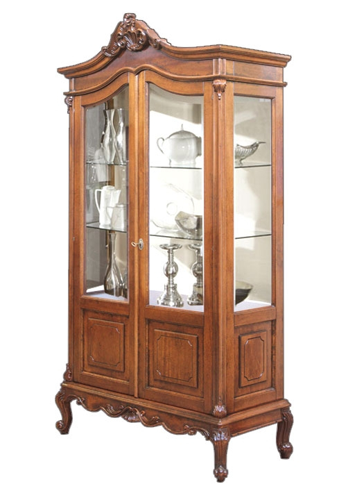 Vitrine mit Glaseinlegeböden 2 Türen