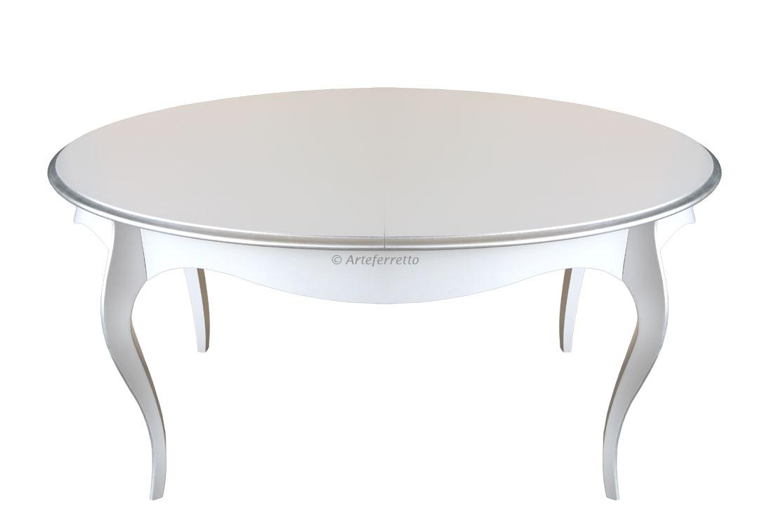 Table à manger ovale avec allonge 160-200 cm