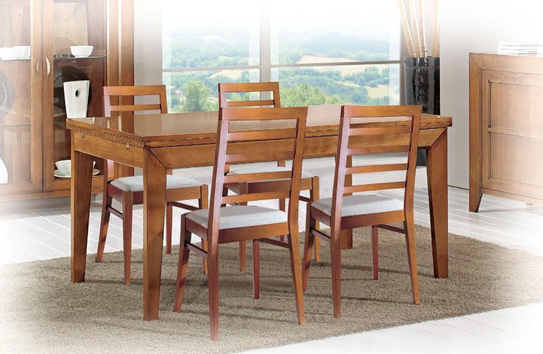 Table rectangulaire à rallonge