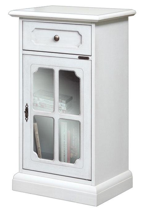 Kleinmöbel mit Glastür im klassischen Stil