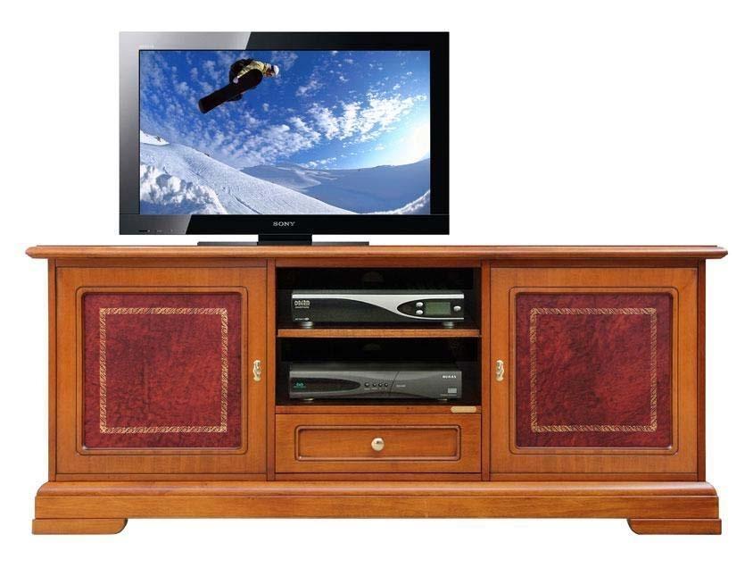 Meuble Tv détails en cuir 150 cm largeur