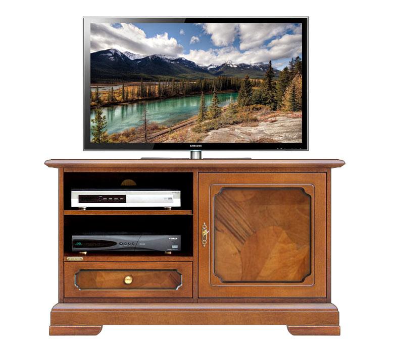 Meuble Tv 1 porte en bois ronce de noyer