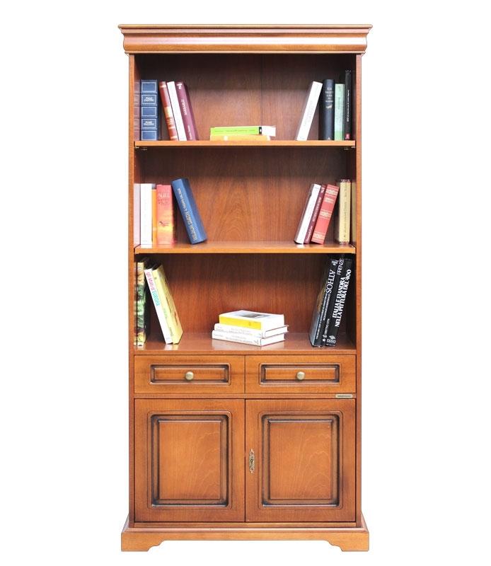 Bibliothèque haute Style Louis Philippe 2 portes
