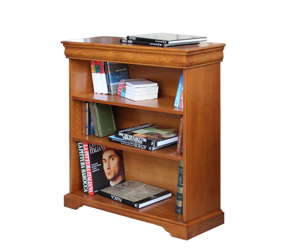 Bibliotheque Basse Style Louis Philippe Meuble Bas De Rangement Sauve Espace Ebay