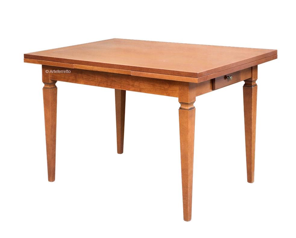 Esstisch mit Schubkasten rechteckig 120-200 cm