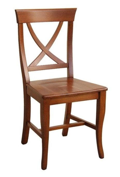 Chaise de style assise en bois