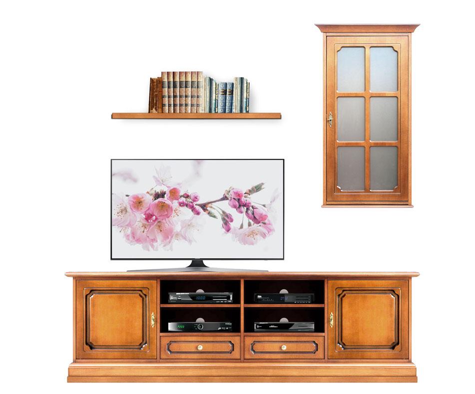 Wohnwand 2 m TV-Möbel und Aufsatz