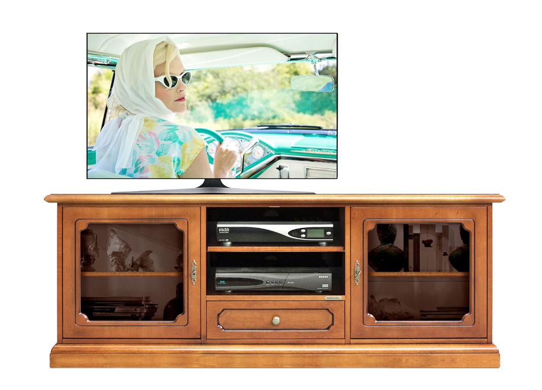 TV-Lowboard mit Glastüren