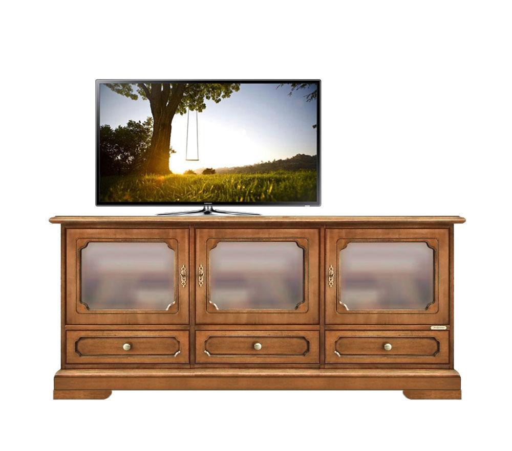 TV-Möbel 3 Glastüren Vicenza