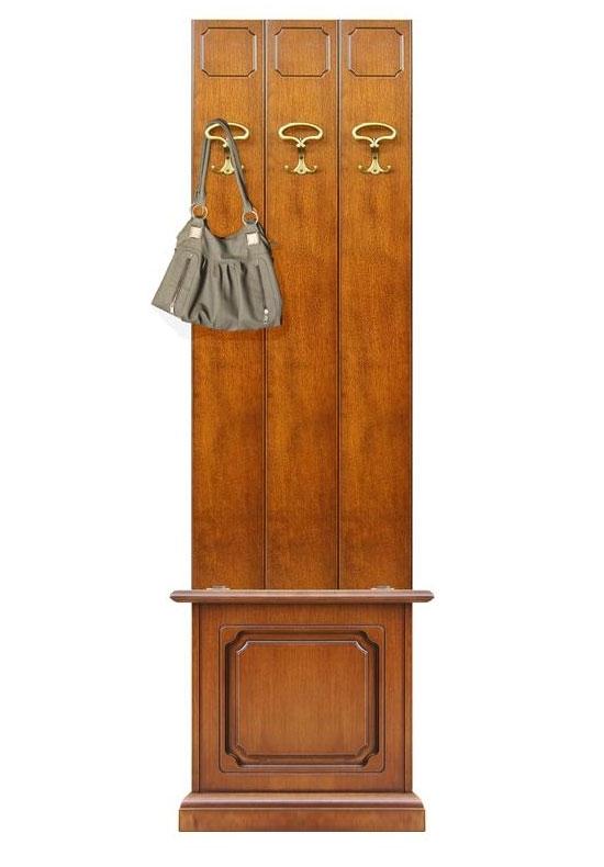 Vestiaire d'entrée largeur 50 cm avec coffre