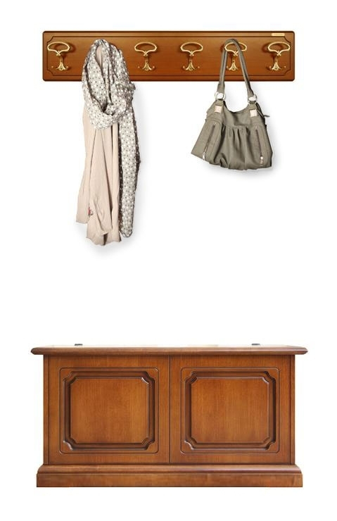 Garderobe-Set Truhe und Wandgarderobe