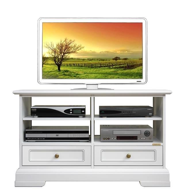 Meuble tv bas classique 2 tiroirs
