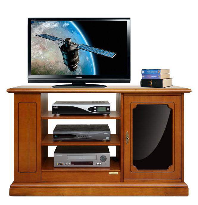 Meuble Tv 1 porte avec noir reflex