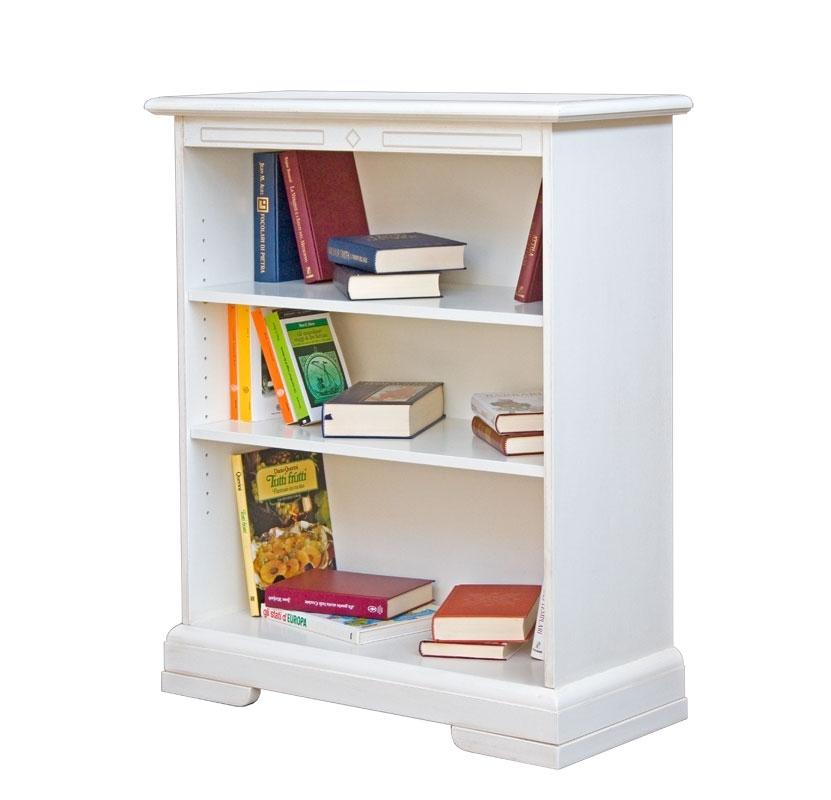 Niedriges Bücherregal lackiert