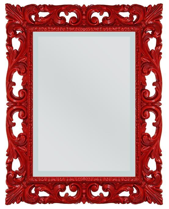 Spiegel Rot rechteckig Venedig