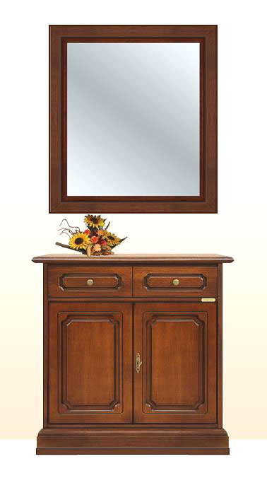 Ensemble buffet et miroir classique