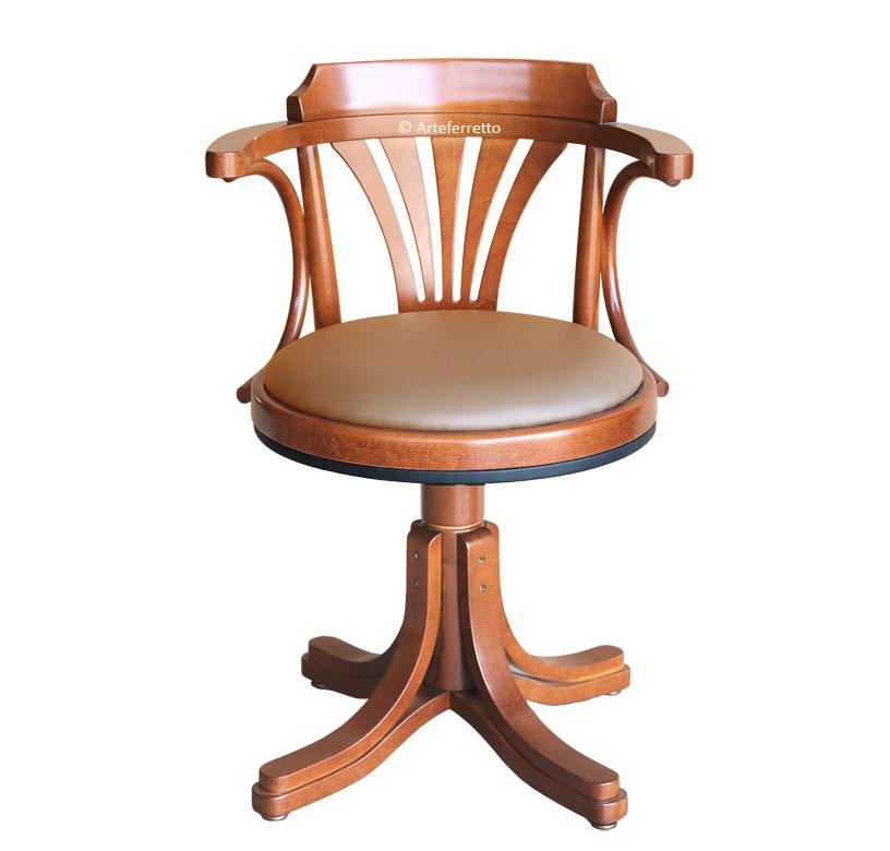 Fauteuil tournant assise en cuir