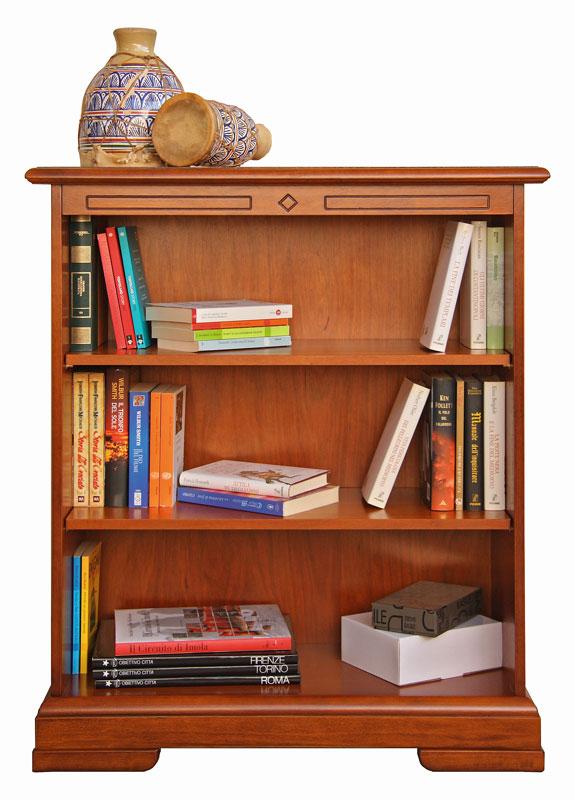 Bibliothèque basse avec 2 étagères réglables
