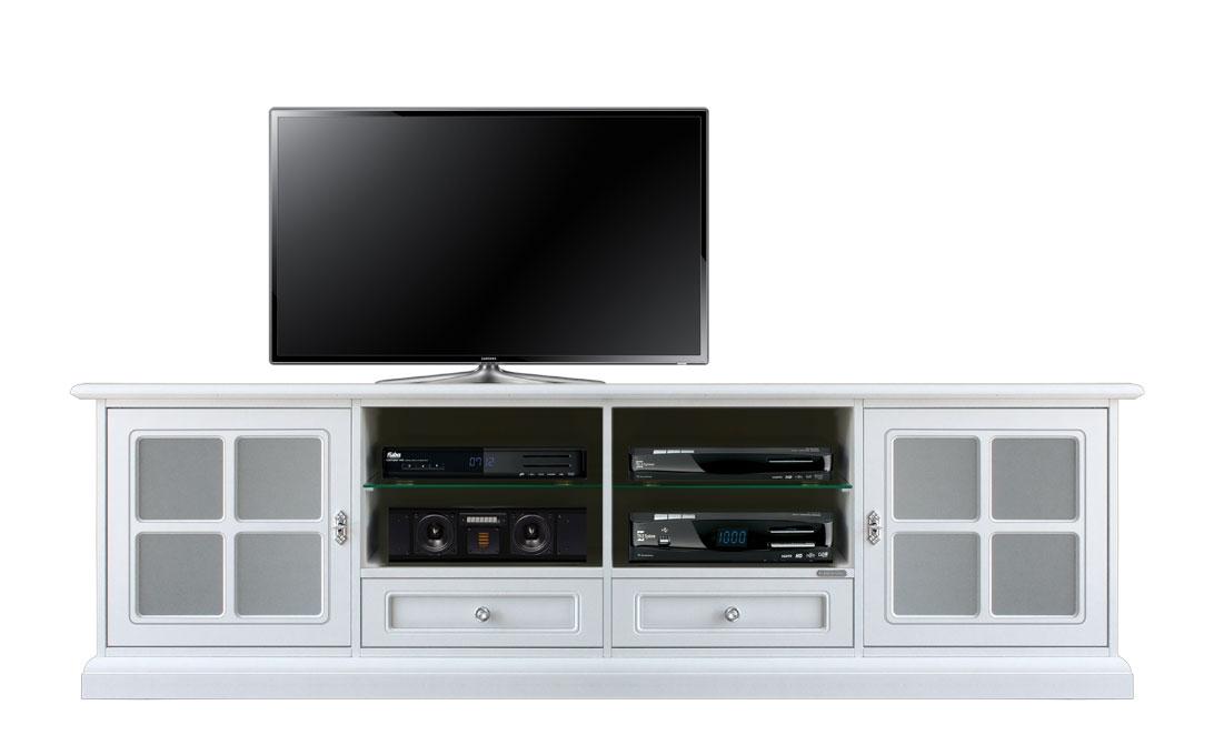 TV-Lowboard mit Glastüren klassisch