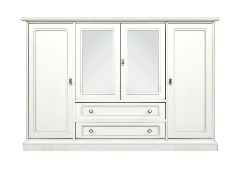 Highboard weiß 4 Türen 2 Schubladen