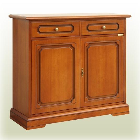 Buffet classique en bois 2 portes 2 tiroirs