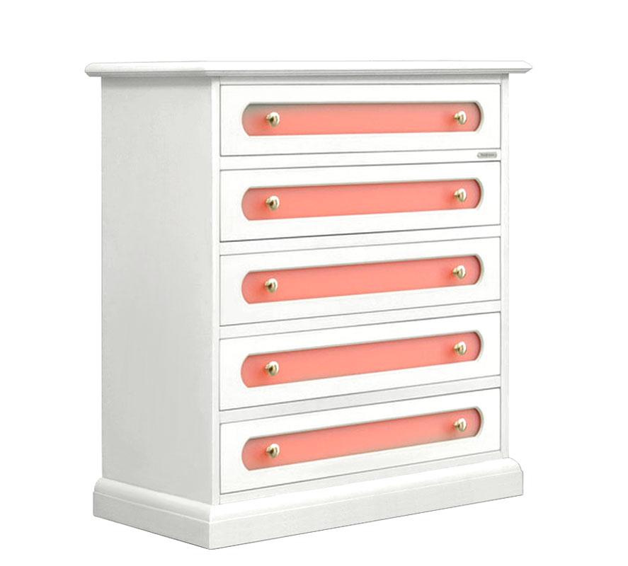 Kommode Mädchenzimmer Weiß Rosafarben