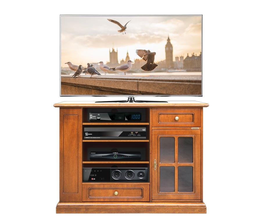 TV-Schrank H 82 cm mit Glastür