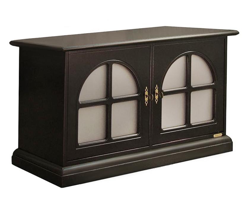 Buffet bas noir classique 2 portes