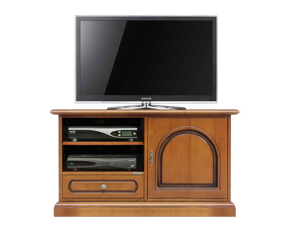 Meuble Tv en bois 1 porte tête ronde