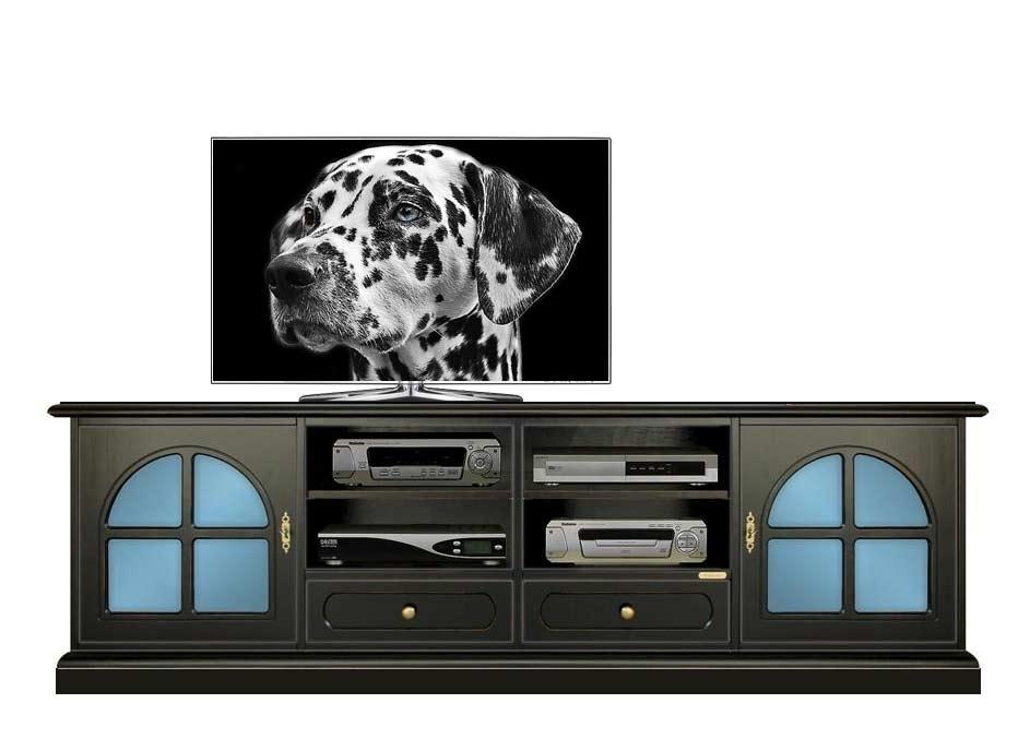 Meuble tv laqué noir