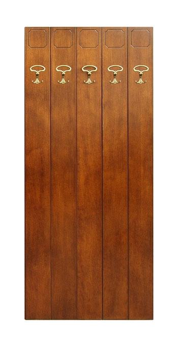 Garderobenpaneel 5 Haken aus Holz