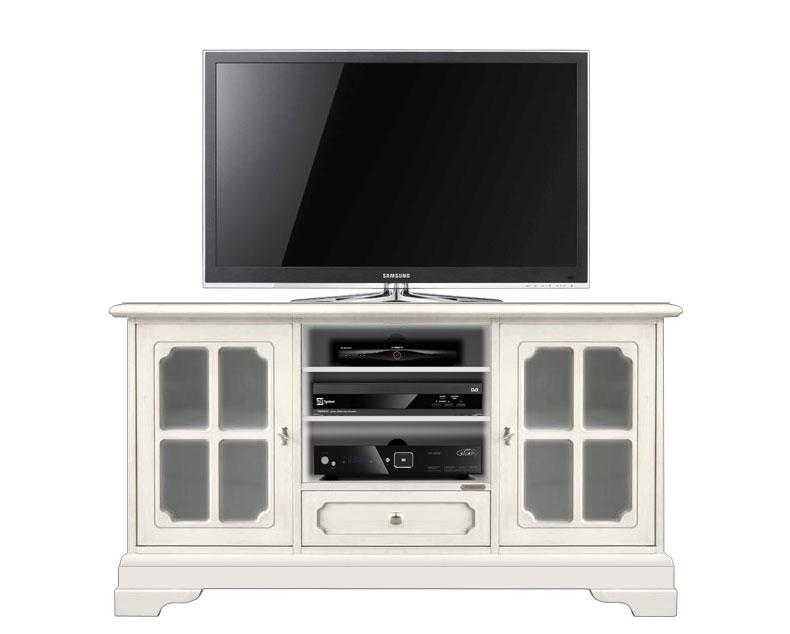 TV-Möbel klassisch Wohnzimmer 2 Glastüren