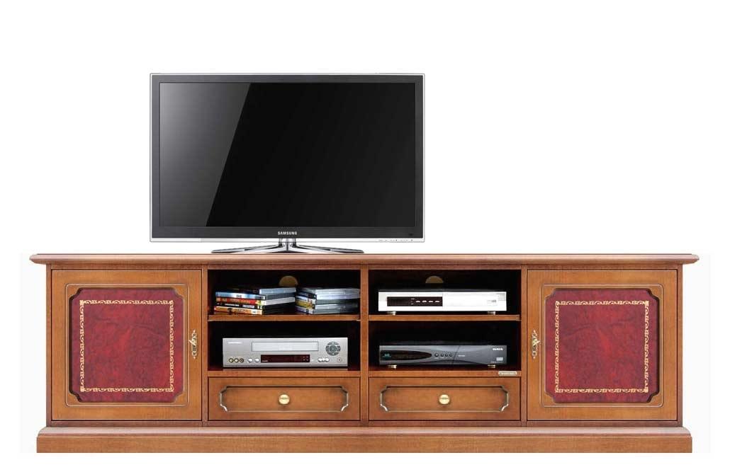 Meuble Tv 2m largeur avec véritable cuir