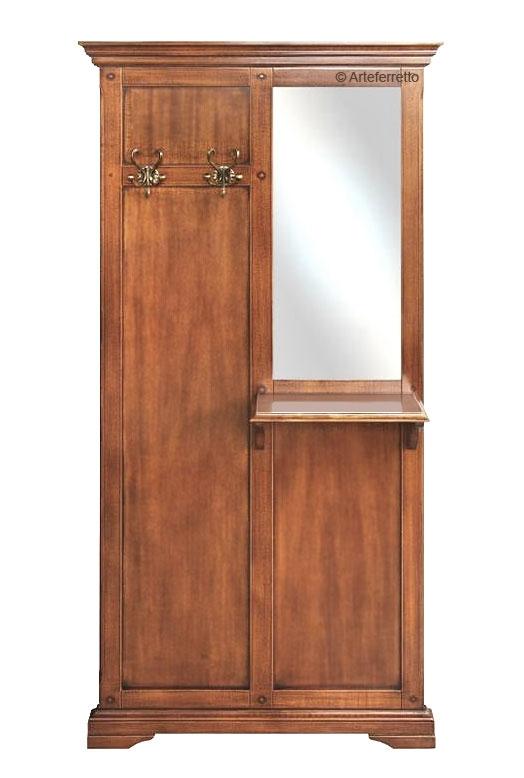 Vestiaire meuble d'entrée classique en bois