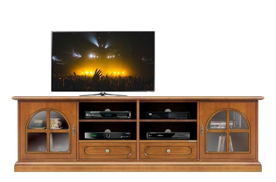 TV-Lowboard 2 m Glastüren Klassisch