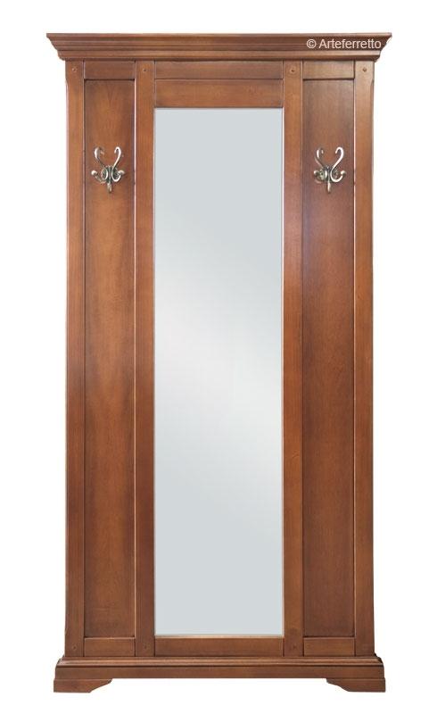 Vestiaire pour l'entrée en bois avec miroir