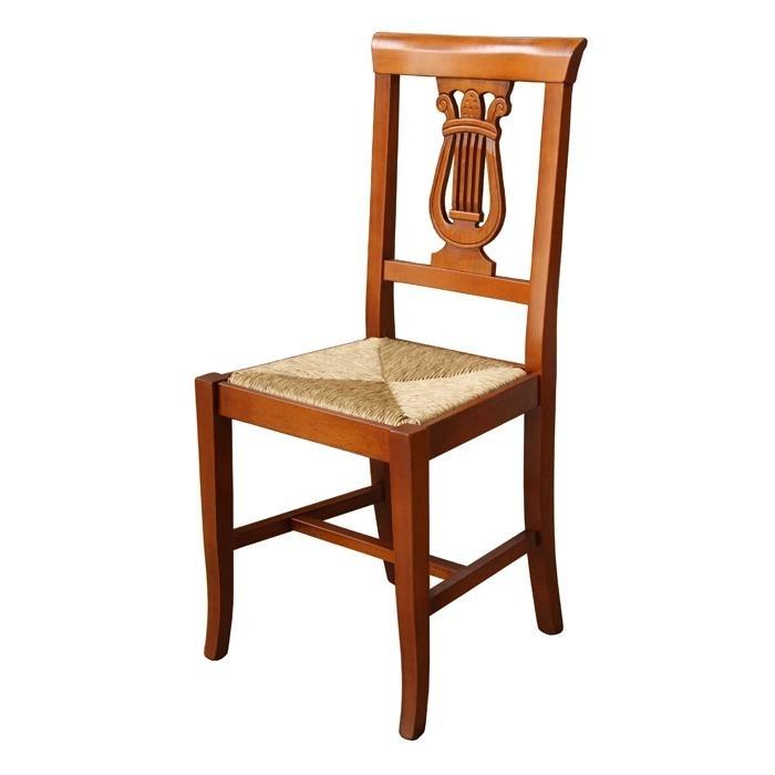 Chaise Lyre assise en paille