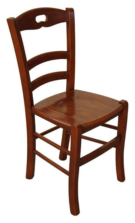 klassischer Stuhl Esszimmer Holzsitz