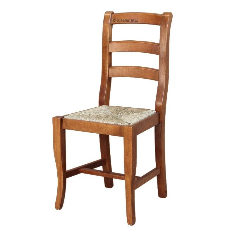 Stuhl mit Sitz aus Stroh Klassisch