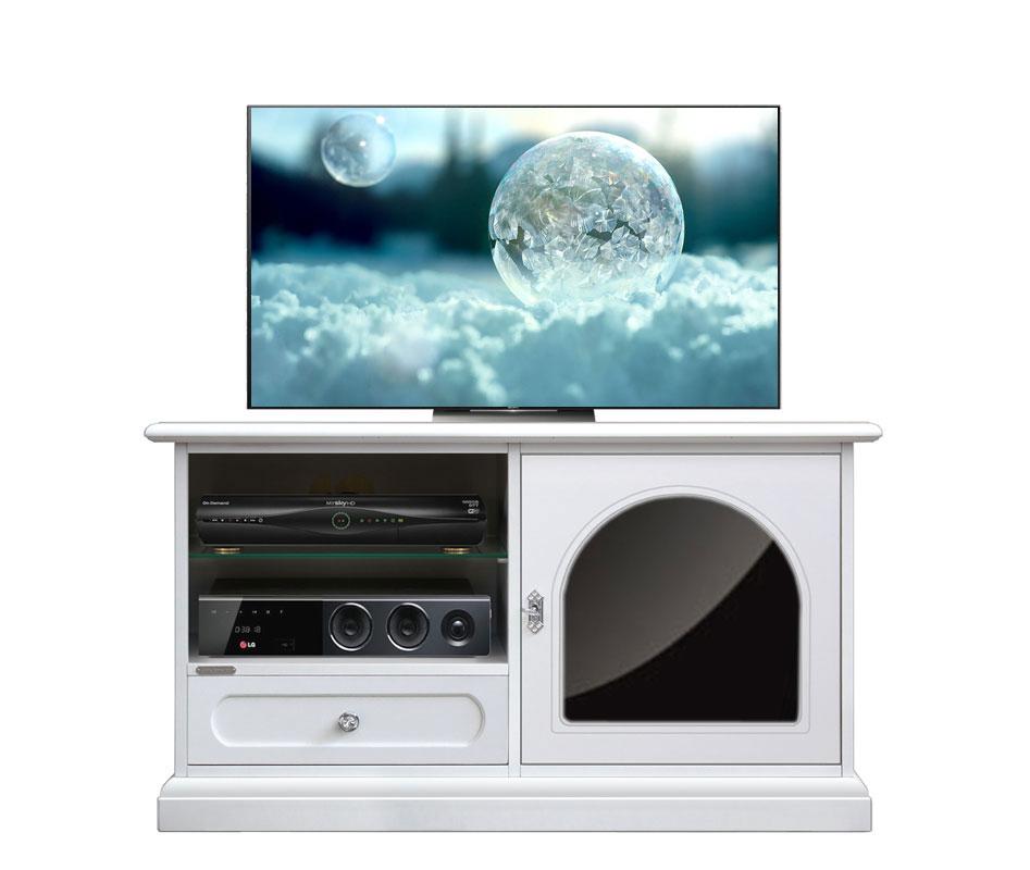TV-Möbel schwarz und weiß Reflex