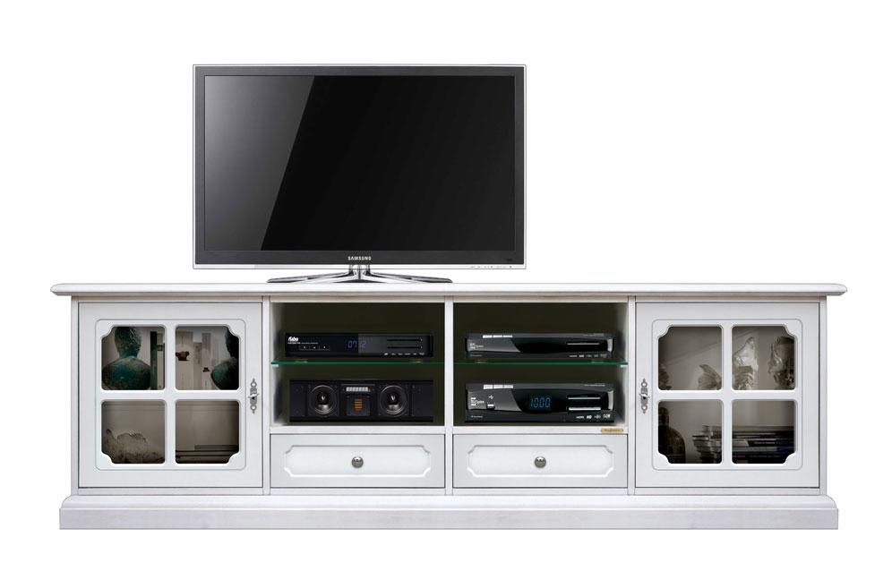 Meuble Tv 2 portes 2 tiroirs et étagères