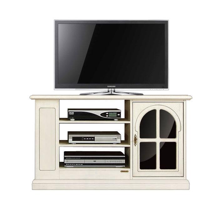 TV-Rack Weiß und Schwarz mit Glas