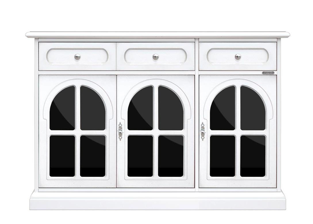 Anrichte mit Schwarz Glastüren