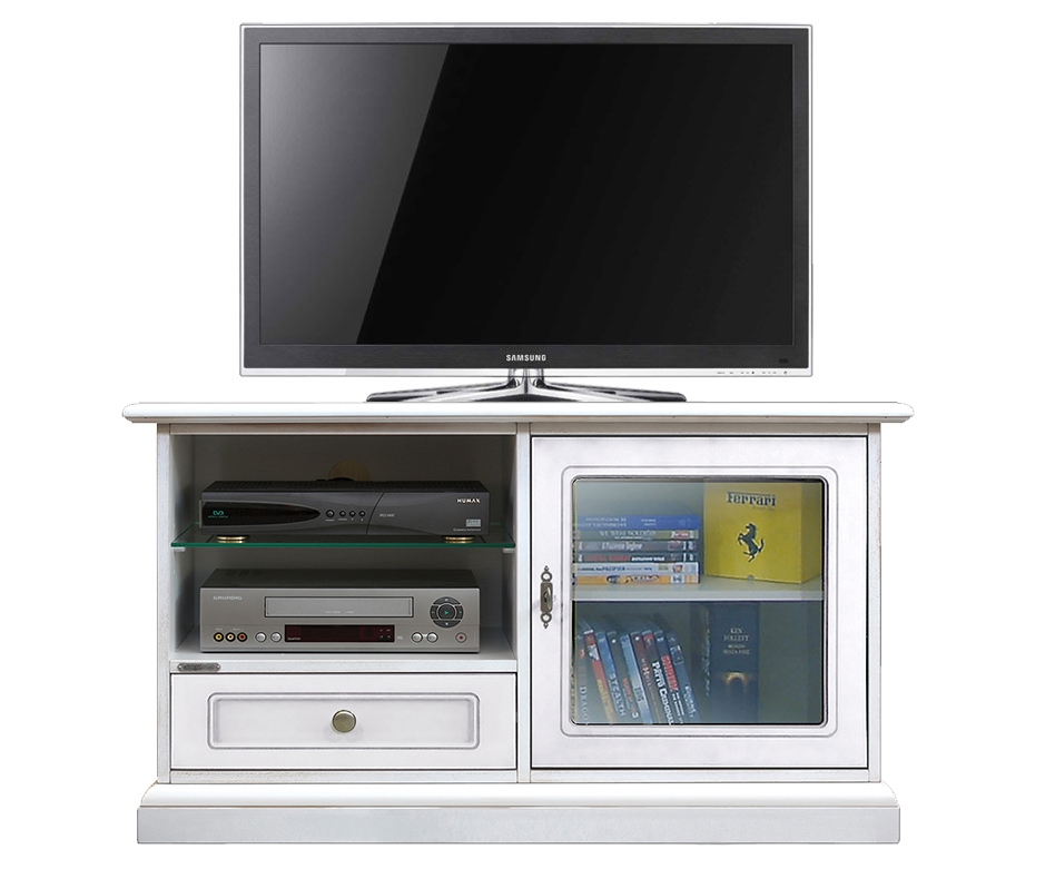 Meuble Tv midi 1 porte 1 tiroir et étagères