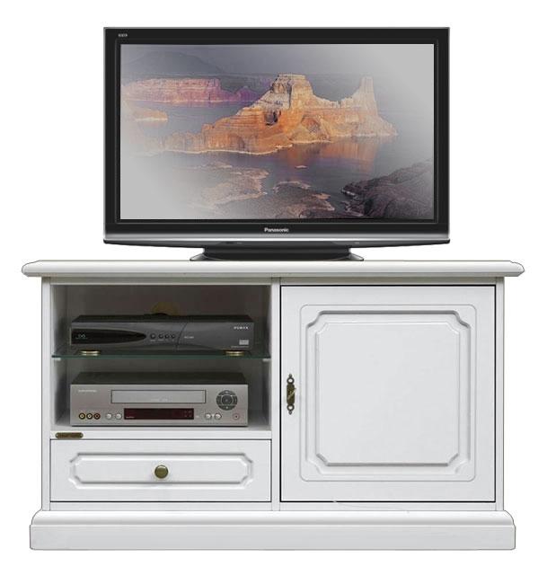 Meuble Tv en bois laqué 1 porte 1 tiroir