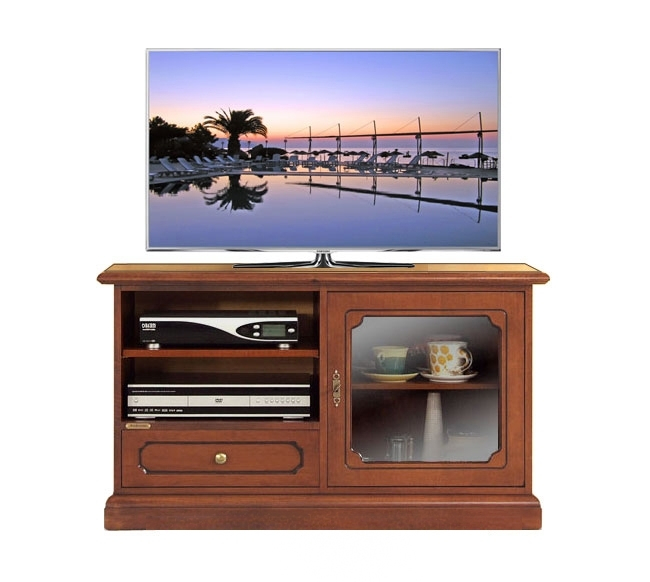 TV-Schrank Glastür und Schublade